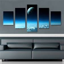 Aliexpress.com : Buy 5pcs Home Decor Canvas Wall Art Decor Painting Space  Wall Picture Canvas Art Print From Photo On Canvas For The Home Canvas from  ...