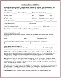 Daycare Contract Template Free Daycare Contract Forms Free Template Resume Examples