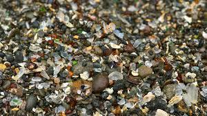 sea glass on glass beach in fort bragg mendocino county california
