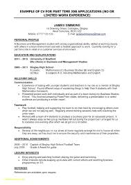 Resume For High School Student First Job Math First Time Job Resume