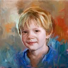oil painting of a little boy by ben enhouwer dutch portrait painter