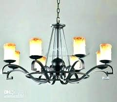 wrought iron candle chandelier black rustic sound co vintage cast ir