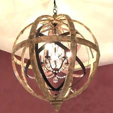 iron and wood chandelier round light fixture attractive crystal world market gray valencia ch