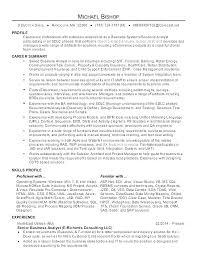 Sample Analyst Resume Senior Resume Samples Analyst Resume Sample Senior Business Analyst