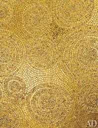 the fancy gold collection of 24k gold and glass mosaic tiles by sicis cafe lighting 8900 marrakech wall