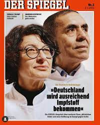 """Elif Shafak on Twitter: """"Great cover by @derspiegel 👏🏽👏🏽wife and  husband scientists Dr. Özlem Türeci & Prof. Dr. Uğur Şahin, front fighters  against the pandemic with their #BioNTech @Pfizer vaccine, both children"""