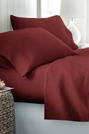 ienjoy homecalifornia king hotel collection premium ultra soft 4 piece bed sheet set burdy