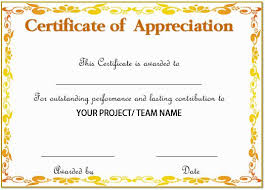 Sample Of Appreciation Certificates 20 Free Certificates Of Appreciation For Employees