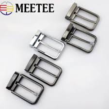 Meetee 40mm Pin Belt Buckle <b>Men's Metal</b> Clip Buckle DIY Leather ...