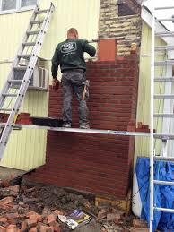 wondering what a chimney rebuild looks like
