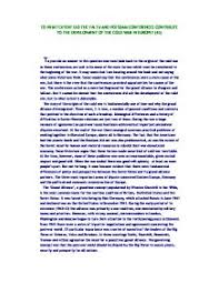 essay cell phones investment portfolio in resume cover letter for essay on the origins of the cold war in europe the cold war owed a cold
