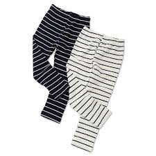 Toddler Boy Pants Size Chart 2018 Autumn Girls Skinny Long Pants Black White Striped Children Bottoms Leggings Kids Elastic Trousers Girls Cotton Boys Pants Size Chart Pants For