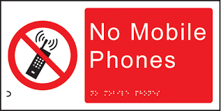 No Cell Phone Sign Printable Braille And Tactile Sign No Mobile Phones Ssp Print Factory