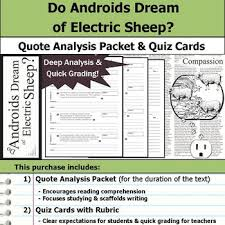 Do Androids Dream Of Electric Sheep Quotes Best of Do Androids Dream Of Electric Sheep Quote Analysis Reading Quizzes