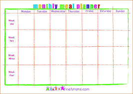 printable monthly menu planner free printable monthly menu planner template family meal excel