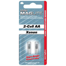 Maglite Xenon Replacement Lamps For 2 Cell Aa Flashlights 2 Pack