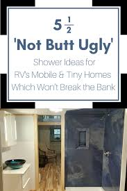 5 5 stylish shower panel base ideas for an rv tiny home or mobile home