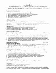 Resume Format For Linux System Administrator Fresh Graduation