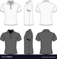 shirt design templates mens polo shirt and t shirt design templates vector image