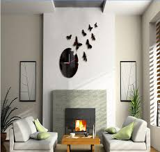 errlies 3d wall clock home decoration diy mirror wall clocks black wall art watch hot wall clock wall clock contemporary from er
