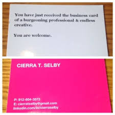 25 Awesome Business Cards Of Students Recent Grads