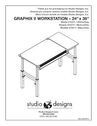 Studio Designs Graphix Ii Workstation Studio Designs Graphix Ii Workstation 24 X 36 Inches User
