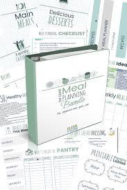 Recipe Binder Templates Recipe Binder Meal Planning System