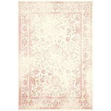 pink throw rugs ivory rose 6 ft x 9 area rug 5x7