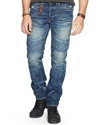 moto jeans. denim \u0026 supply ralph lauren men\u0027s alamo slim-fit moto jeans s