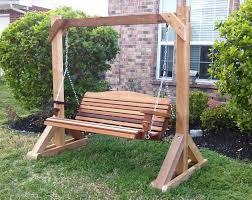Patio Swing Bench Nj Wood Cushions Outdoor Glider Chair Planspatio