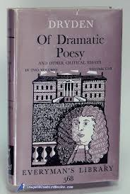 dryden an essay of dramatic poesy assignment how to write  english literature an essay of dramatick poesie dryden