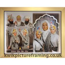 chaar sahibzaade with mata gujri photo picture framed 23 x 18 inches sikhs valor tradition