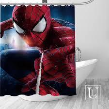Modern shower curtains Cloth Custom Spiderman Curtain Fabric Modern Shower Curtain Bathroom Beautiful Curtains Bath Decor Polyester Cloth Waterproof Aliexpresscom Custom Spiderman Curtain Fabric Modern Shower Curtain Bathroom