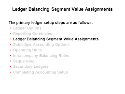 using accounting setup manager ppt  ledger balancing segment value assignments 28 subledger accounting options