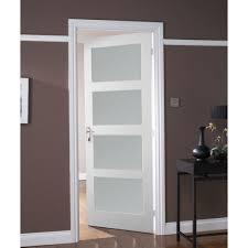 jeld wen avesta internal white primed 4 panel shaker obscure glazed door leader s white glass panel internal doors