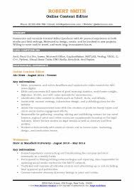 Resume Editing Online Content Editor Resume Samples Qwikresume