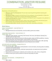 Janitor-Combination-Resume1 Janitor Qualifications Summary. Janitor  Professional Profile