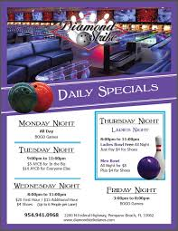 bowling specials at diamond strike lanes in pompano beach florida join us for bowling fun