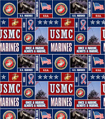 united states marines fleece fabric allover