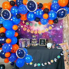 Amazon.com: Space Balloon Garland Kit, 80pcs balloons metallic silver magic  balloons star banner strip for space party decorations alien decorations  space birthday party supplies galaxy party supplies baby shower: Toys &  Games