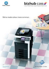 Konica minolta bizhub 184 driver and software free downloads: Bizhub C200 Poster Konica Minolta Make Color Color Printer