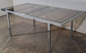 milo baughman chrome dining table at stdibs
