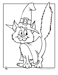 Small Picture Cute Halloween Coloring Pages Halloween Witch Cat Coloring Page