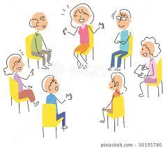 discussion round table talk person 30195786