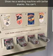 Laundromat Vending Machines Amazing Meme From Reddit About Eating Tide PODS Joking That This Vending