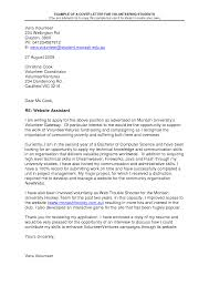 Awesome Collection Of Sample Cover Letter For Volunteering Image