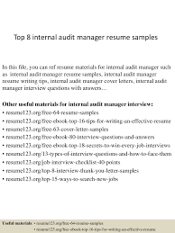 Resume Format For Internal Auditor Applicatio Peppapp