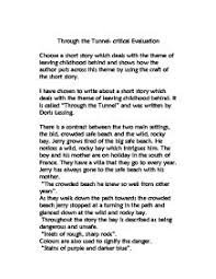 through the tunnel gcse english marked by teachers com page 1 zoom in
