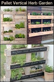pallet vertical herb garden herb