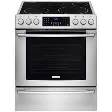 electrolux iq touch 4 6 cu ft electric range with front controls self